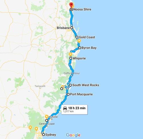 Australia Road Trip Sydney to Noosa KATrippin